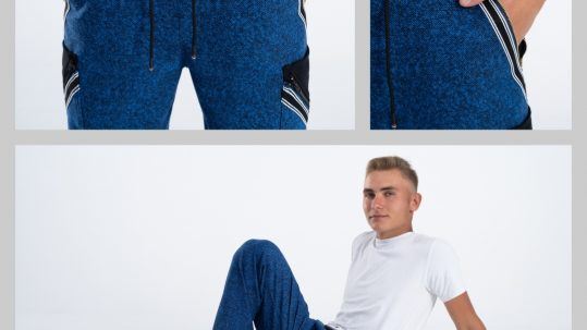 Spodnie dresowe ISD wkolorze niebieskim.