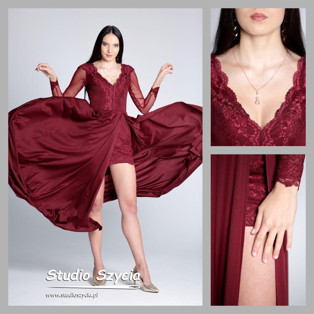 Zwiewna suknia na bla studniówkowy.