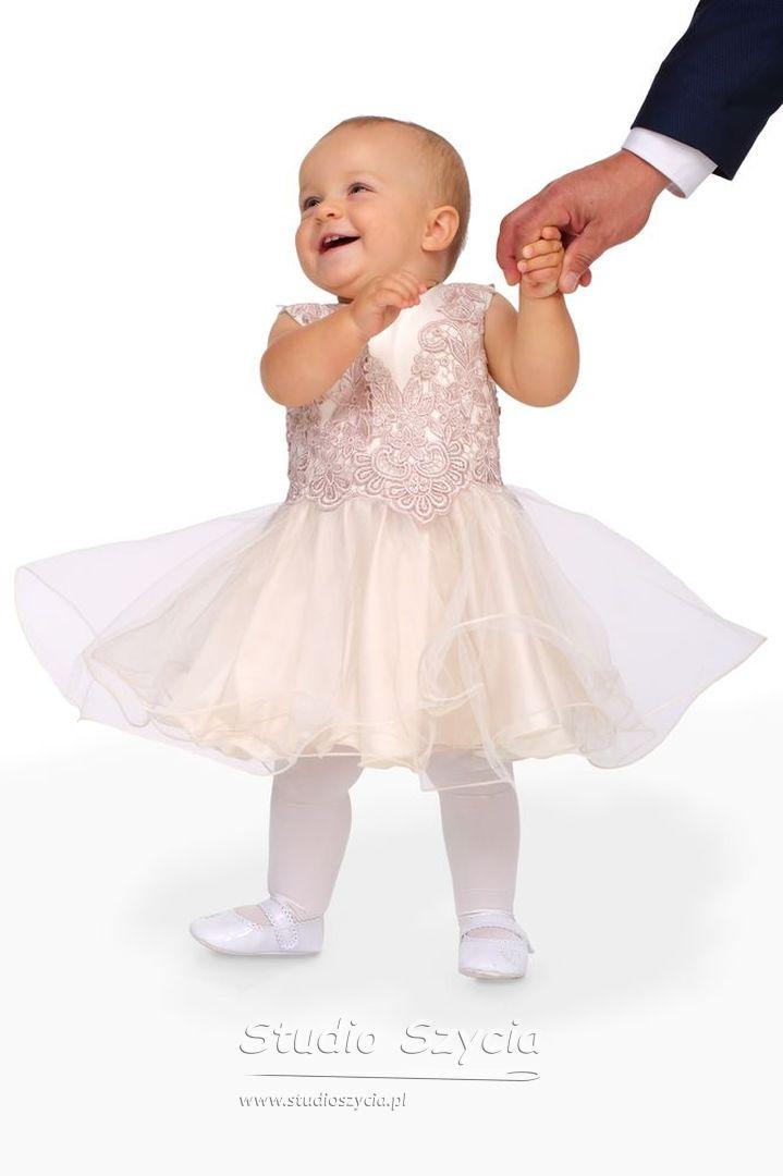 chrzest, suknia, dziewczynka, dziecko, krenowy, koronka,